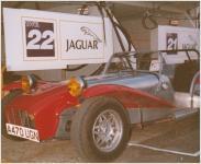 Eugene in Jaguar Pits Le Mans 1988